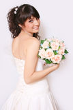 Bride. Beautiful bride in the studio Royalty Free Stock Image