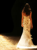 Bride. In a beautiful wedding gown stock images