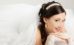 Bride. Portrait of the bride in a wedding dress Royalty Free Stock Photo