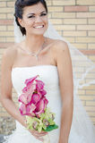 Bride. On here wedding day royalty free stock photo