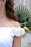 Bride. Details an bride in wedding dress Stock Photo