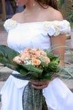 Bride. Details bride in wedding dress Stock Photos