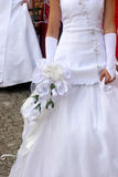 Bride. Details bride in wedding dress Royalty Free Stock Photography