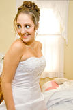 Bride. During preparations for her wedding day royalty free stock images