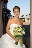 Bride. Holding a white roses Stock Photography