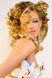 Bride. Beautiful extravagant bride with a fashionable make-up Royalty Free Stock Photo