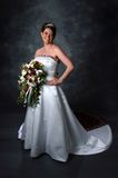 Bride. A elegant smiling bride posing for her wedding day celebration Royalty Free Stock Photo
