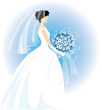 Bride. Holding a bouquet Royalty Free Illustration