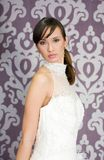 Bride. Beautiful bride in wedding dress royalty free stock photography