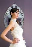 Bride. At the wedding salon stock image