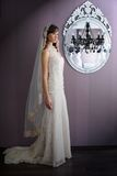 Bride. Beautiful bride at the mirror stock image