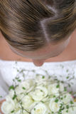 Bride. And her flowers Royalty Free Stock Image