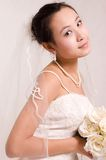 Bride. A Pretty bride.High quality,retouch face and body Royalty Free Stock Images