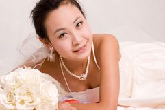 Bride. A Pretty bride.High quality,retouch face and body Stock Images