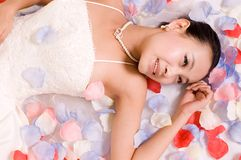 Bride. Beautiful Chinese bride in her wedding dress Stock Images