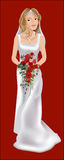 Bride. A bride on her wedding day vector illustration