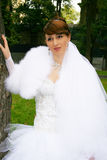 The bride. The beautiful bride in park Royalty Free Stock Images