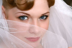 Bride. Young beautiful bride with red hair Stock Photo