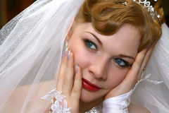 Bride. Young beautiful bride with red hair Stock Images