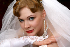 Bride. Young beautiful bride with red hair Stock Image