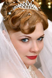 Bride. Beautiful bride with red hair Royalty Free Stock Photo