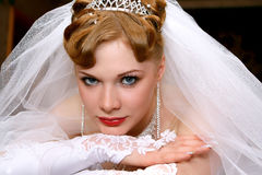 Bride. Young beautiful bride with red hair Stock Photos