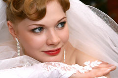 Bride. Young beautiful bride with red hair Stock Photography