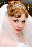 Bride. Beautiful bride with red hair Stock Photo