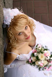 Bride. Young beautiful bride with blond hair Stock Image