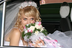 Bride. Young beautiful bride with blond hair Royalty Free Stock Images