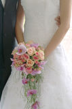 Bride. Holding Bouquet from rose Stock Photography