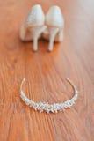 Bride accessories stock photos