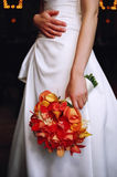Bride And Floral Bouquet Stock Photography