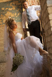 Bride And Groom At The Wedding Walk Royalty Free Stock Photography