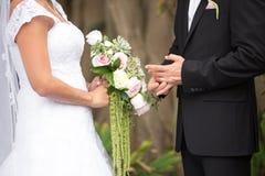 Free Bride And Groom At Wedding Ceremony Stock Photo - 121535290