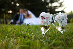 Free Bride And Groom In The Park Stock Photos - 15648773