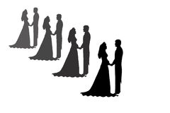 Free Bride And Groom Silhouettes Stock Images - 1876984