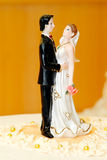 Bride And Groom Wedding Cake Decoration Royalty Free Stock Photo
