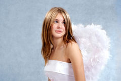 Bride-angel Stock Image