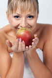 Bride with apple Stock Photography