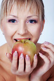 Bride with apple Royalty Free Stock Photo