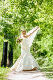 Bride of apple blossom Stock Photos