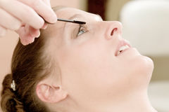 Bride At The Beauty Shop Royalty Free Stock Photo
