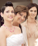 Bride and attendance Stock Images
