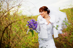 Bride in autumn Royalty Free Stock Photography