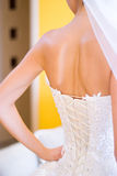 Bride back Stock Photography