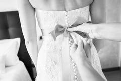 Back bridal wedding dress bride white royalty free stock photo