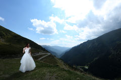 Bride at Balea Lake, Romania Stock Images
