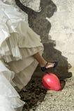 Bride balloon hole with heel