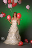 Bride and balloons Royalty Free Stock Photography
